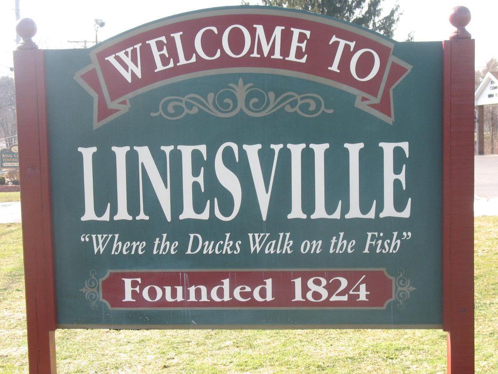 O vertedouro de Linesville: onde os patos caminham sobre peixes 11