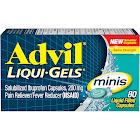 Advil Ibuprofen 200 mg Liquid Filled Capsules, Minis - 80 capsules