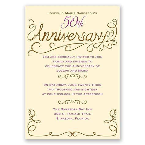 Charming Touches Anniversary Invitation   Invitations By Dawn