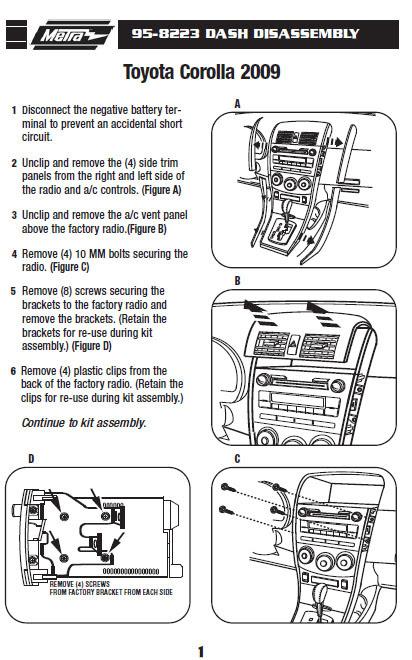 .2009-TOYOTA-COROLLAinstallation instructions.