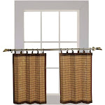 Versailles Patented Ring Top Bamboo Panel Series Tier Set Colonial - 40 x 24 Colonial Dyed
