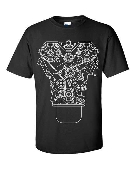 100% Cotton Brand New ENGINE DESIGN T shirt Black S 3XL