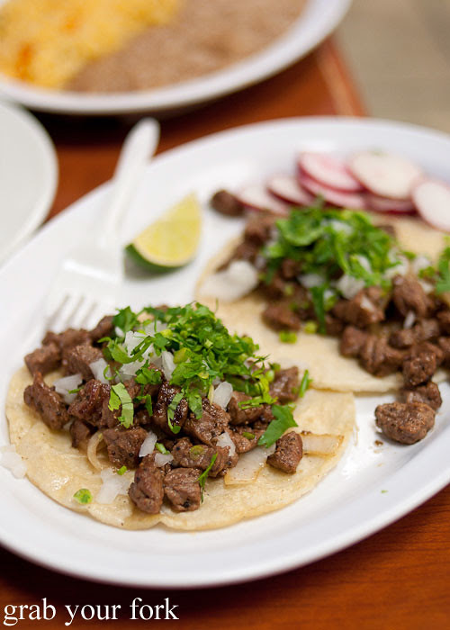grilled beef taco at tamales lilianas restaurante mexican in east los angeles