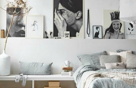 Επιλέξετε να διακοσμήσετε το πίσω μέρος του κρεβατιού σας με όμορφους πίνακες