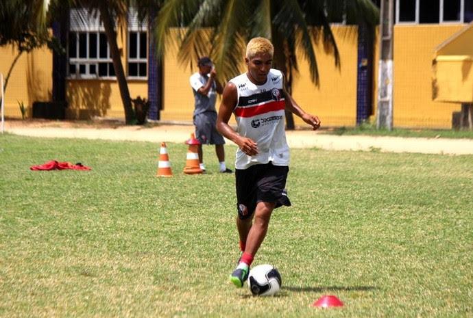Santa Cruz de Natal - Índio Oliveira, atacante (Foto: Diego Simonetti/Santa Cruz de Natal)