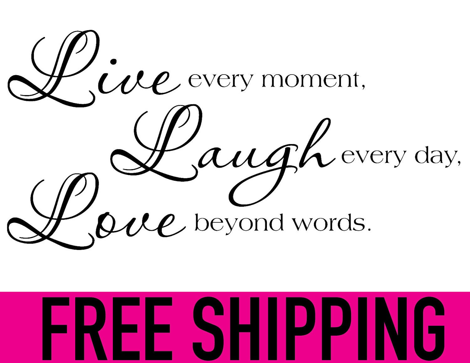 LIVE LAUGH LOVE wall vinyl sticker home decor by KleinsKreations