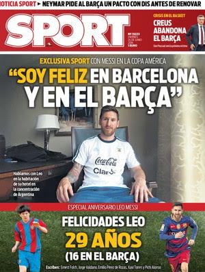 Lionel Messi Diário Sport (Foto: Reprodução)