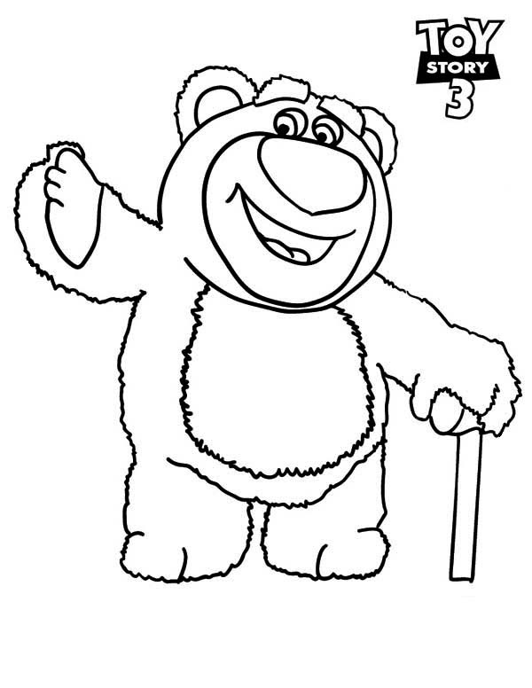 Meet Lots O Huggin Bear in Toy Story 3 Coloring Page