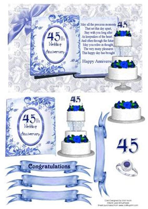 45th Sapphire Wedding Anniversary   CUP92103 543