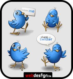 Free Twitter Icons – Happy Birds