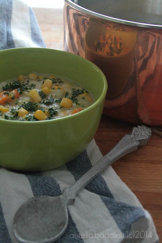 zuppa di porri patate e mais 2