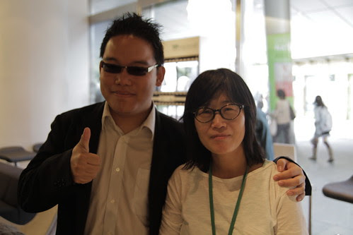 With Korean filmmaker Shin Su-won
