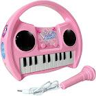 KidPlay Products Little Pianist Singing Musical Karaoke Keyboard Lights Up Pink