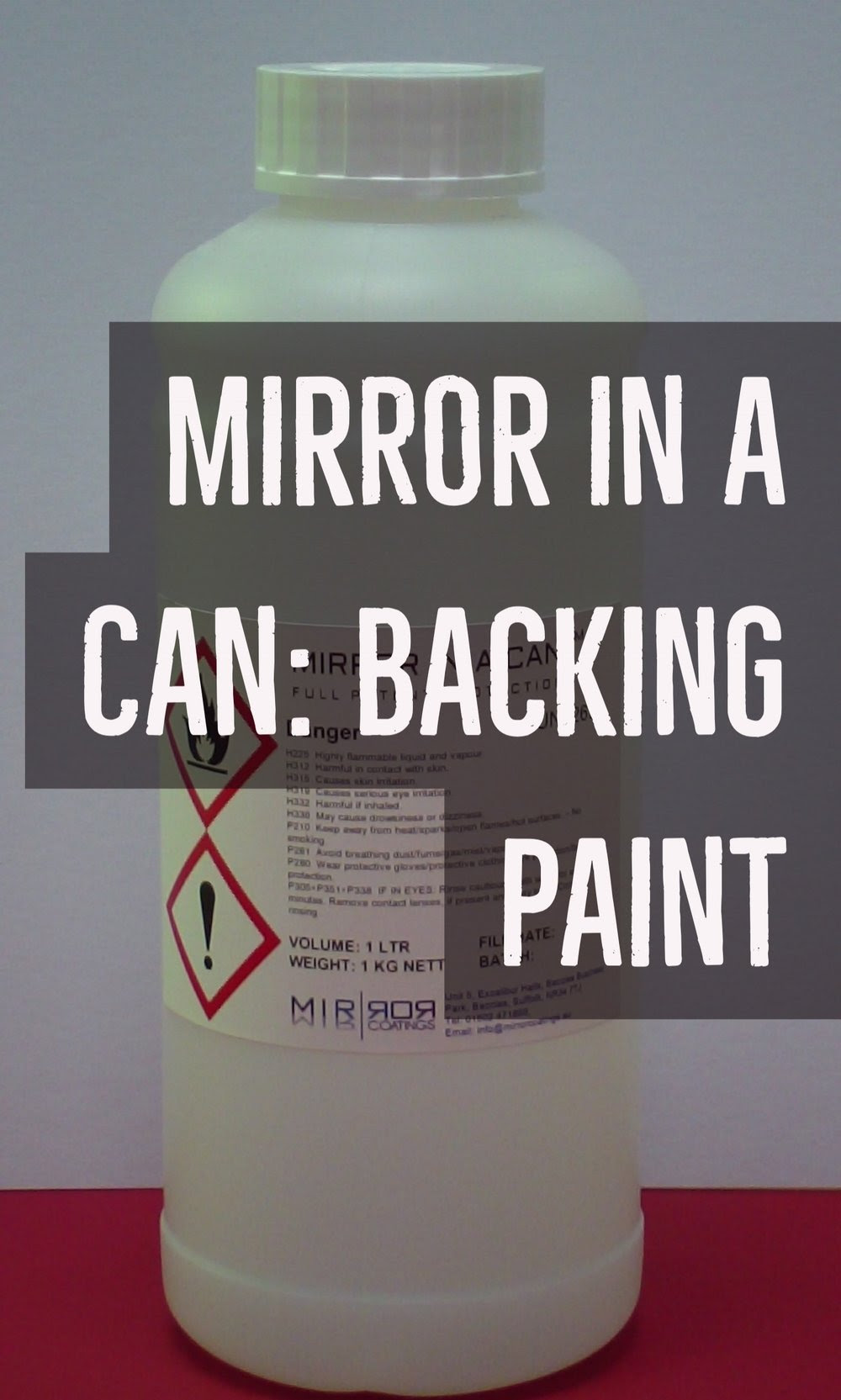Mirror In A Can Backing Paint Mirror Coatings