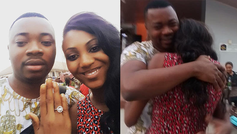Ovie Kelly Proposes To Burutu Justy, His Girlfriend (Photos, Video)