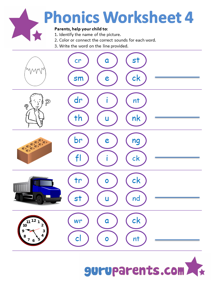 phonics worksheet 4