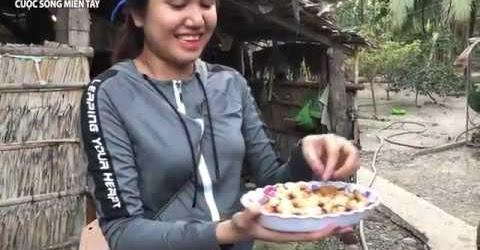 Giao lưu miền tây vui nhộn | món đuông dừa | Em gái miền tây vs Trai Campuchia