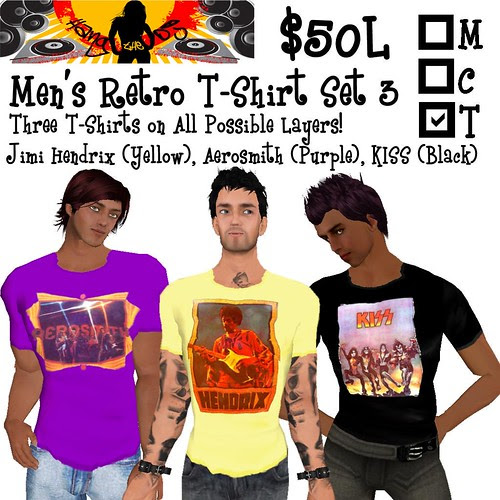 HTDJ! Men's Retro T-Shirts Set 3_Ad