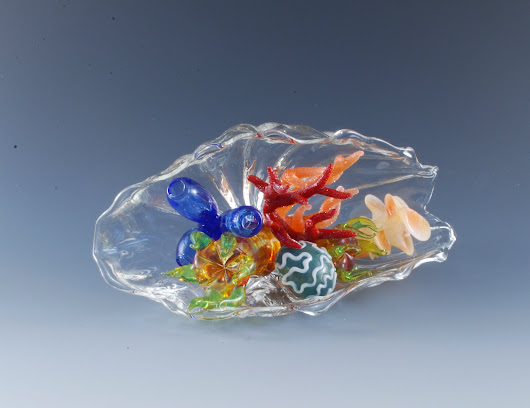 Inside Out by Jeremy Sinkus (Art Glass Sculpture) | Artful Home