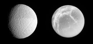 Lunas activas alrededor de Saturno