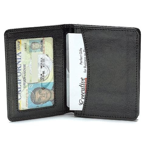 Leather Credit Card Wallet w/ ID Window   Executive Gift