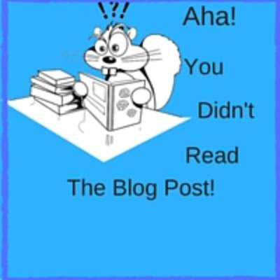 Aha! You Didn't Read The Blog Post! - 27 July 2016 - MTBM Blog - Money To Be Made