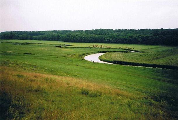 Il fiume Tollense nei pressi del villaggio Weltzin.