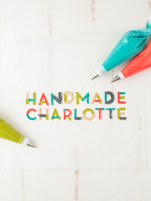 How to Hand Letter with Frosting | Handmade Charlotte