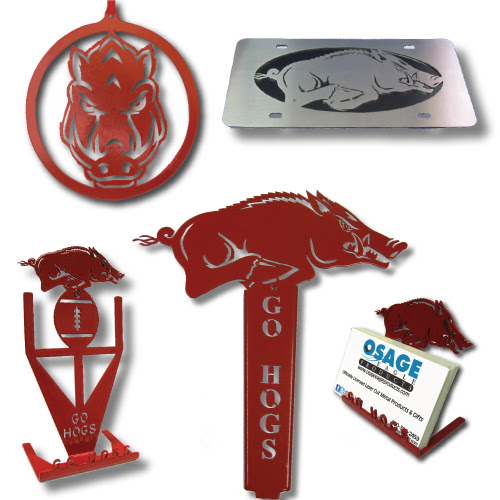 Metal Art Products | Arkansas Razorbacks | Admetalarts.com
