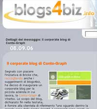 Conto-Graph su Blog4Biz.info