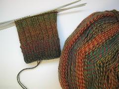 lichen ribbed sock WIP01