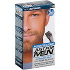 Just For Men Mustache & Beard Brush-in Color Gel, Light Brown M-25 - 2 count, 1 oz box