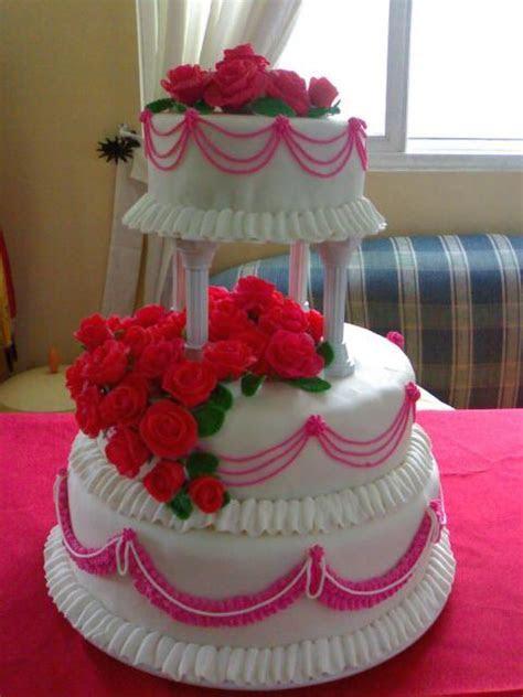 bright pink flowers wedding cake Hi Res 1080p HD