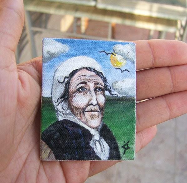 "Small Acrylic Original Painting on Canvas ""Future"""
