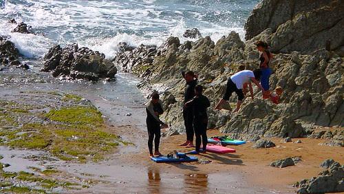 Sesión en el Peñón de Sopelana en marea baja en Junio