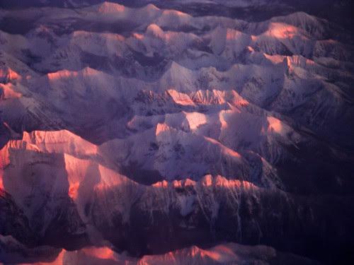 Sun sets on the Rockies