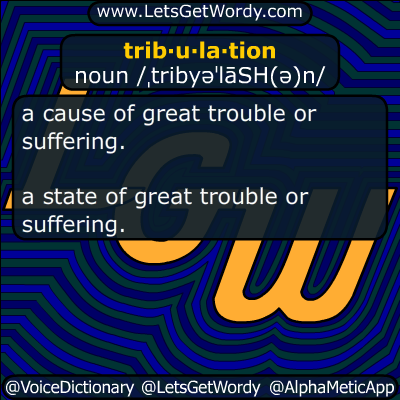 tribulation 09/22/2017 GFX Definition