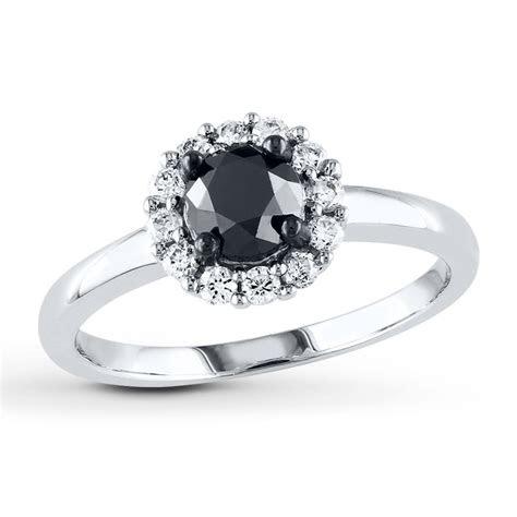 black diamond ring  ct tw  cut  white gold