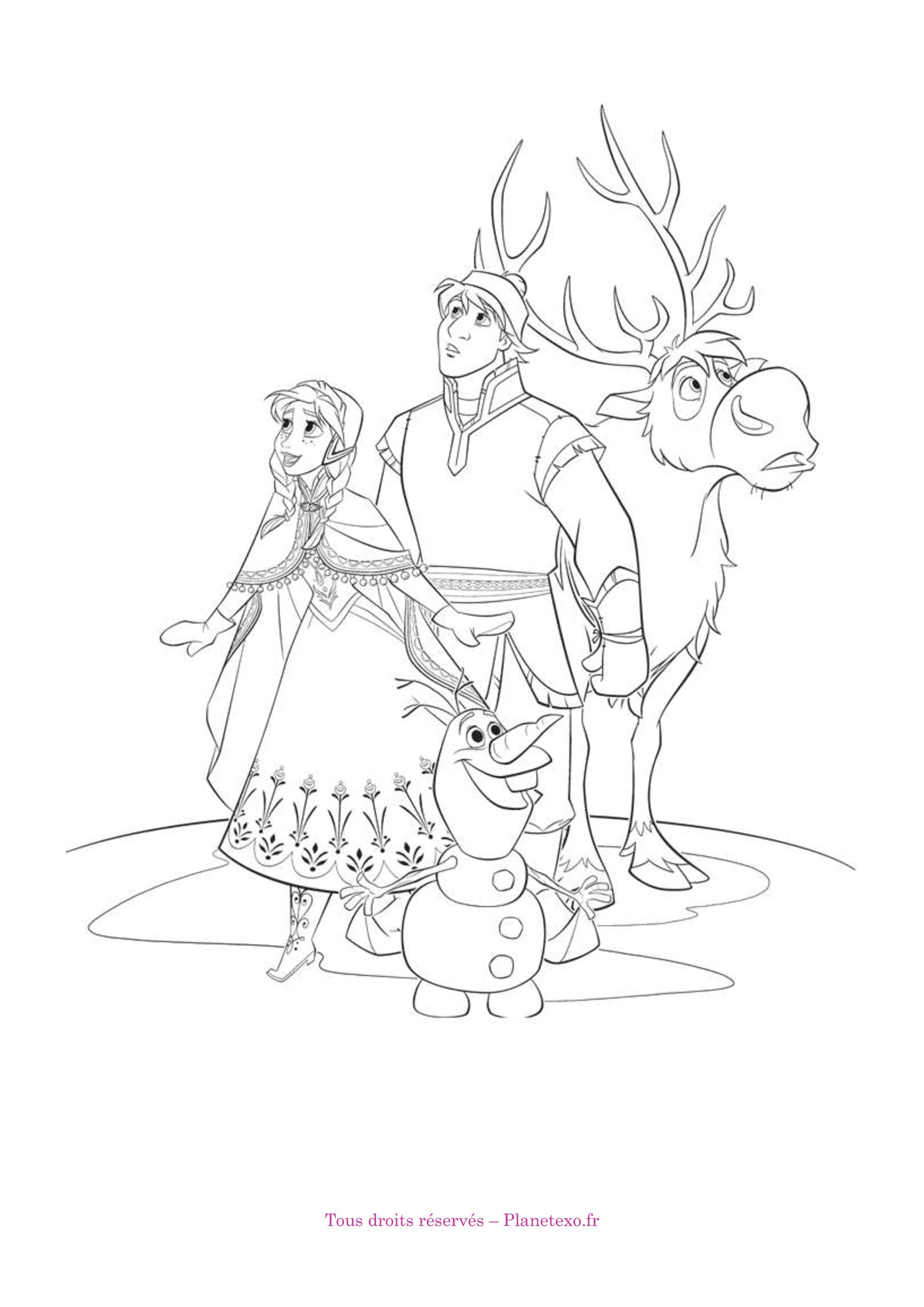 Gallery Of Coloriage Reine Des Neiges Olaf
