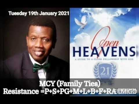 Open Heaven 19 January 2021 – MCY: Family Ties