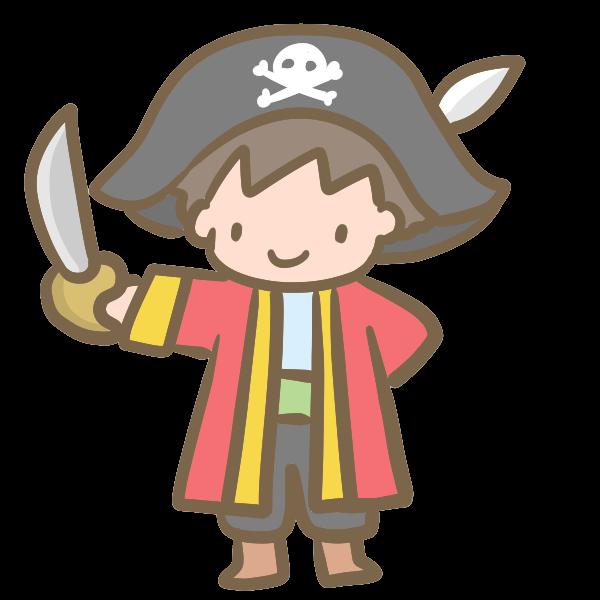 仮装する男の子海賊のイラスト かわいいフリー素材が無料の