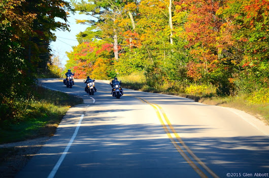 Door County, Wisconsin on a Motorcycle (video)
