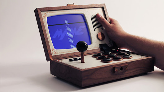 Behold the beautiful arcade briefcase of your dreams