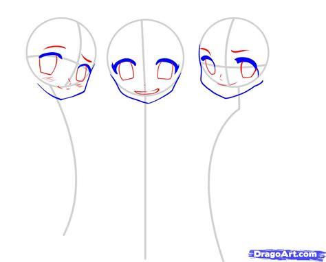 draw japanese anime step  step anime characters
