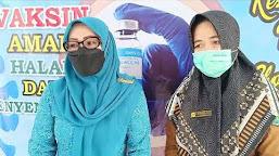 Anggota DPR RI Suntik Vaksin di Tebo, Hj. Saniatul; Vaksin Aman Digunakan