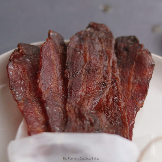 Sweet Heat Candied Bacon - The Farmers Daughter Bakes