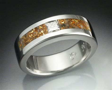 buy  hand crafted mans diamond ring  platinum inlaid