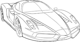 Sketsa Mobil Ferrari