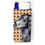 Flat Coated Retriever Fall Leaves Portrait Michelob Ultra s for slim cans CO630007