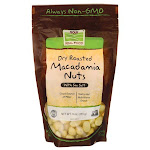 NOW Foods Dry Roasted Macadamia Nuts With Sea Salt   9 oz Package